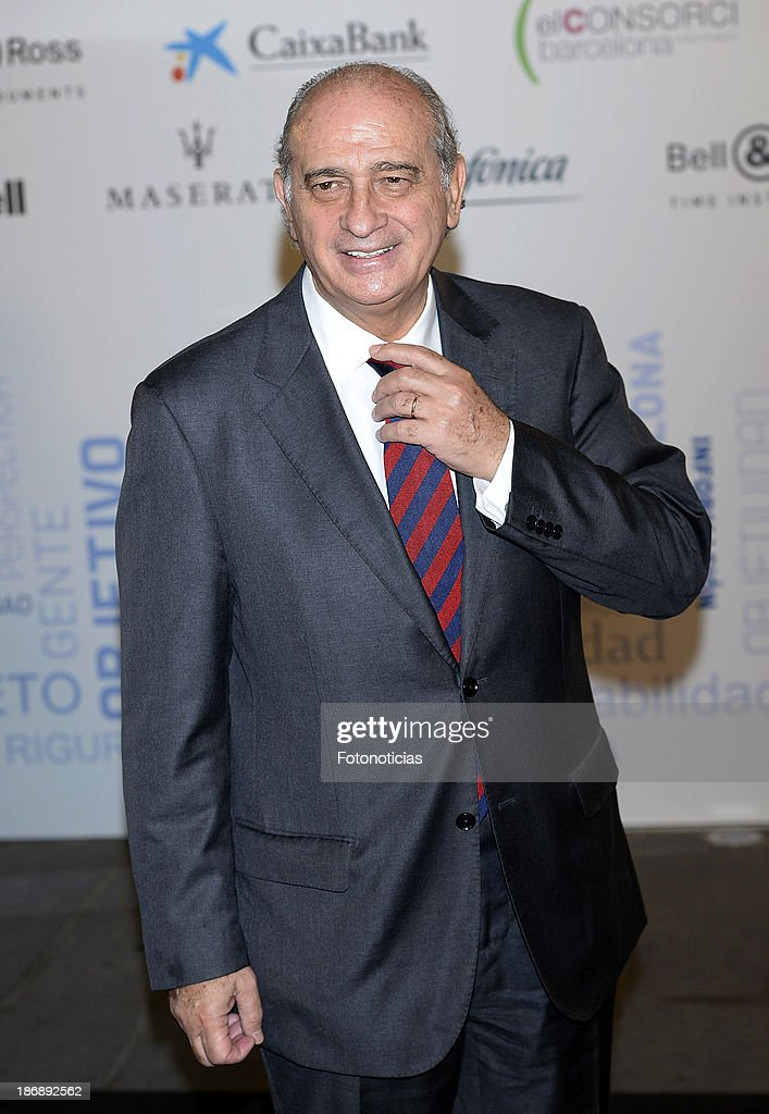 Minister Jorge Fernandez Diaz attends 'La Razon' newspaper 15th anniversary party on November 4, 2013 in Madrid, Spain.