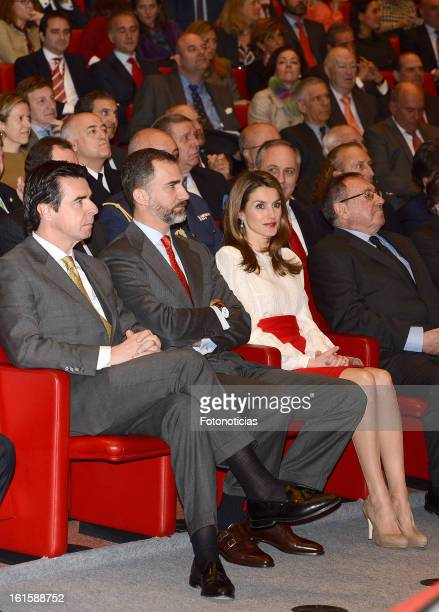 Minister Jose Manuel Soria Prince Felipe of Spain and Princess Letizia of Spain attend the acreditations ceremony for honorary Spain 'Brand...