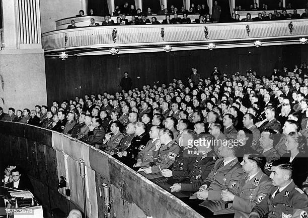 Minister Joseph Goebbels at the celebration 15 years Gauleiter in Berlin. German Opera house. October 28th 1941. Photograph. Minister Joseph Goebbels...