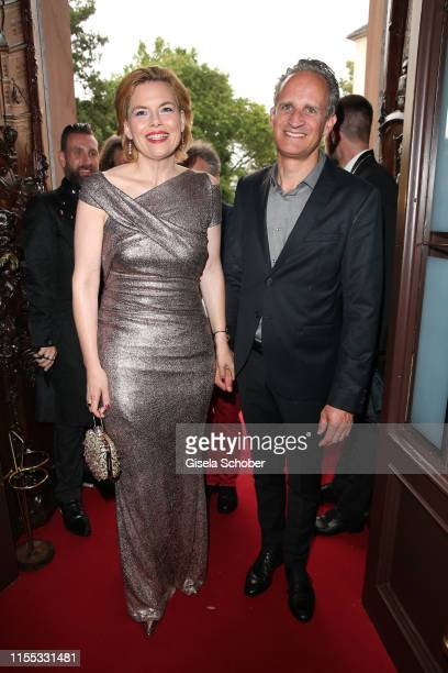 Minister Julia Kloeckner and her husband Ralph Grieser during the opening of the Nibelungen Theatre Festival at St Peter's Cathedral on July 12, 2019...