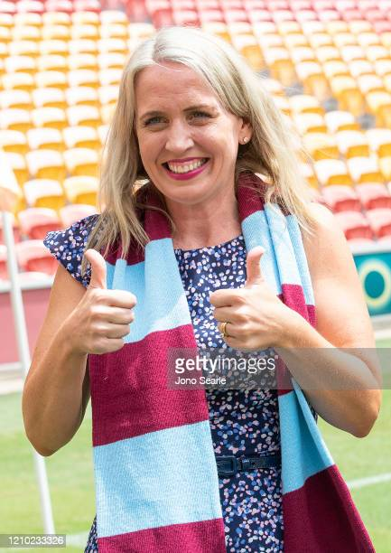 Minister Kate Jones poses during an International Champions Cup media opportunity ahead of matches between Crystal Palace FC West Ham United FC and...
