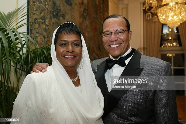 Minister Louis Farrakhan and his wife Khadijah in their hotel suite before the celebration