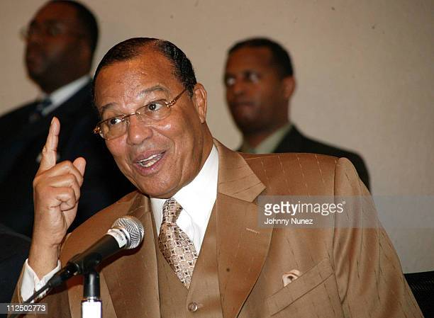 Minister Louis Farrakhan during The Million Man March Press Conference at Sheraton Hotel in New York City New York United States