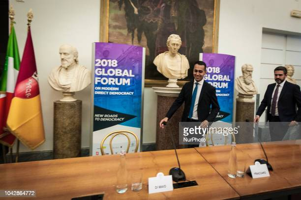 Minister Luigi di Maio of Economic Development and Minister of Labour and Social Policies as well as Vice President of the Council of Ministers and...