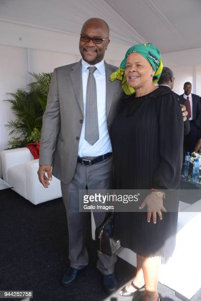 Minister Nathi Mthethwa and Limpho Hani during the 25 year anniversary commemorating Chris Hanis death on April 10 2018 in Boksburg South Africa Hani...