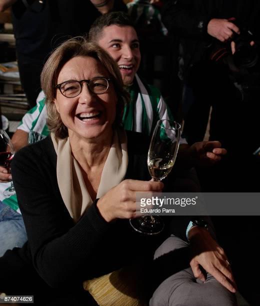 Minister of Agriculture Isabel Garcia Tejerina attends the 'Spanish Wine' campaign presentation at Saporem restaurant on November 14 2017 in Madrid...