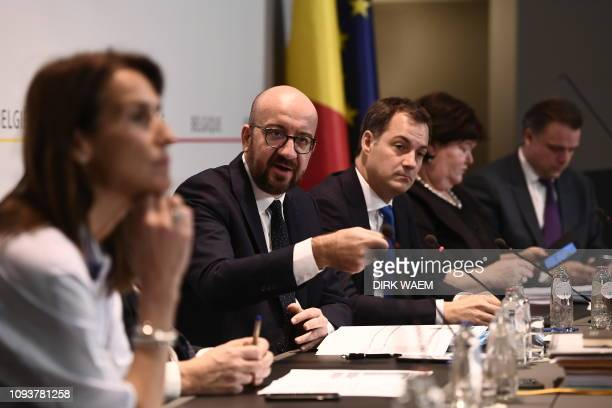 Minister of Budget Sophie Wilmes Belgian Prime Minister Charles Michel Minister of Cooperation Development Digital Agenda Postal services and Finance...