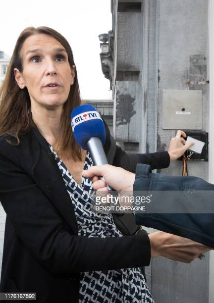 Minister of Budget Sophie Wilmes pictured ahead of a meeting of the security council on the situation in Northern Syria in Brussels Wednesday 16...