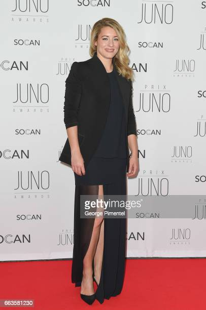 Minister of Canadian Heritage Hon Melanie Joly attends the 2017 Juno Gala Dinner and Awards at Shaw Centre on April 1 2017 in Ottawa Canada