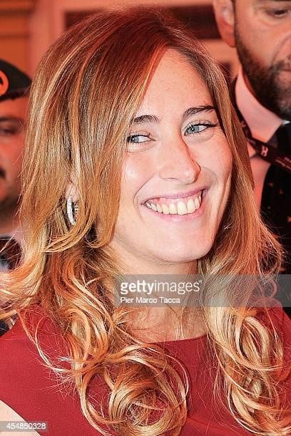 Minister of Constitutional Reforms and Relations with Parliament Maria Elena Boschi attends the Ambrosetti International Economy Forum at Villa...