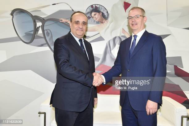 Minister of Cultural Heritage and Activities Alberto Bonisoli and President of Mido Giovanni Vitaloni attend MIDO 2019– Milano Eyewear Show on...