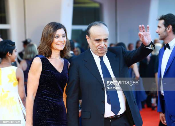 Minister of Culture Alberto Bonisoli walk the red carpet ahead of the opening ceremony and the 'First Man' screening during the 75th Venice Film...