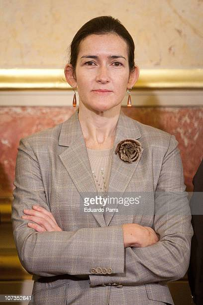 Minister of Culture Angeles Gonzalez Sinde attends the 32nd anniversary of the Spanish Constitution at Congress of Deputies on December 6 2010 in...