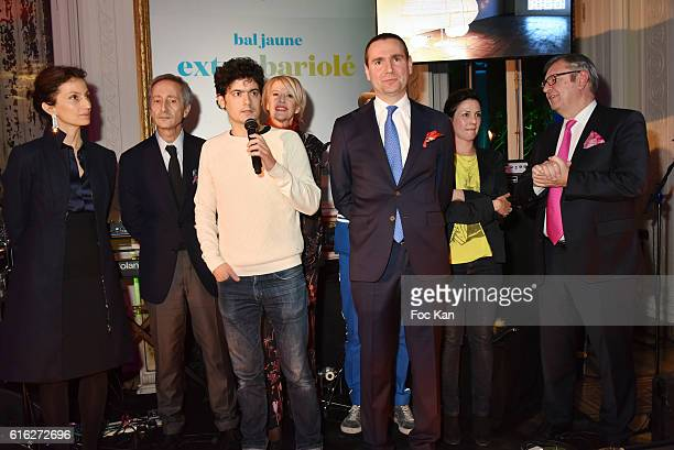 Minister of Culture Audrey Azoulay Bernard Blistene Laureat Clement Cogitore Colette Barbier Fabrice Bousteau from Beaux Arts Magazine Alexandre...