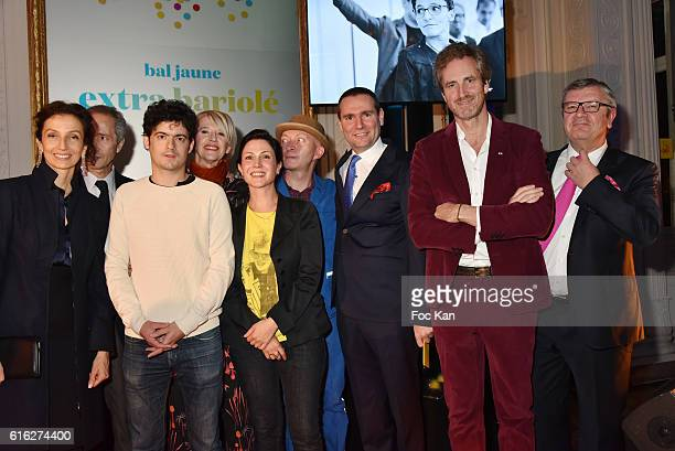 Minister of Culture Audrey Azoulay Bernard Blistene Laureate Clement Cogitore Colette Barbier Fabrice Bousteau from Beaux Arts Magazine Alexandre...