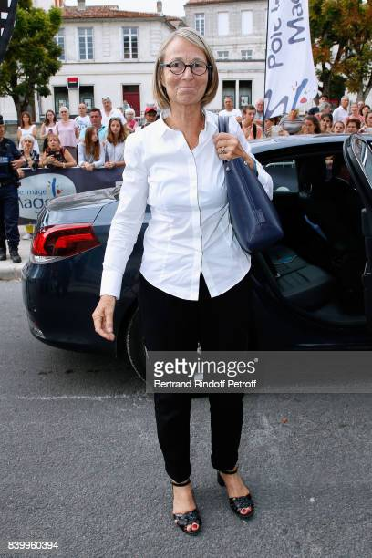 Minister of Culture Francoise Nyssen attends the 10th Angouleme FrenchSpeaking Film Festival Closing Ceremony on August 27 2017 in Angouleme France