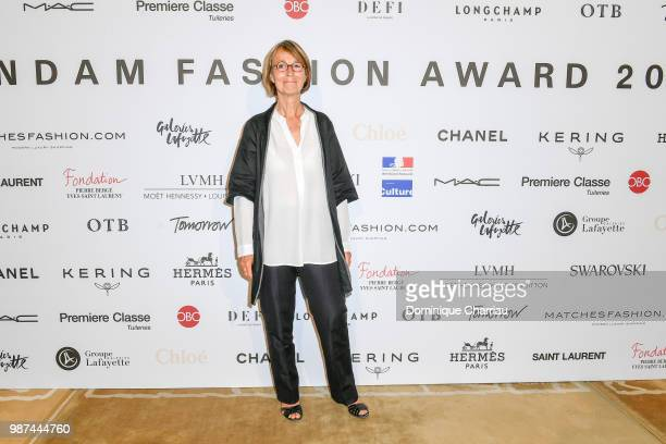 Minister of Culture Françoise Nyssen attends the Andam Fashion Awards 2018 Ceremony at Ministere de la Culture on June 29 2018 in Paris France