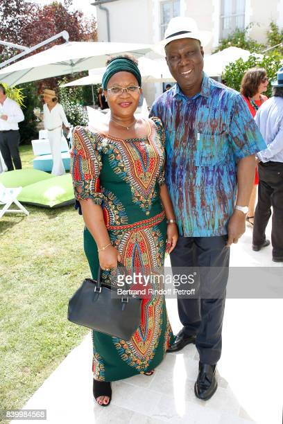 Minister of Culture of 'Cote d'Ivoire' Maurice Kouakou Bandaman and his wife attend the 10th Angouleme FrenchSpeaking Film Festival Day Six on August...