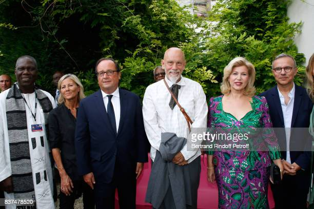 Minister of Culture of Cote d'Ivoire Maurice Kouakou Bandaman journalist Claire Chazal Former French President Francois Hollande President of the...