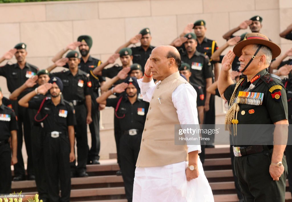 Kargil War Anniversary: Defence Minister Rajnath Singh Lights Victory Flame From National War Memorial : News Photo