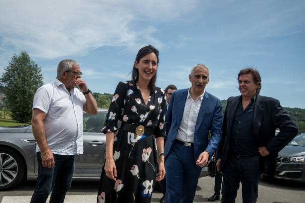 FRA: Minister Of Ecological And Solidarity Transition Brune Poirson In Ampuis And Terney
