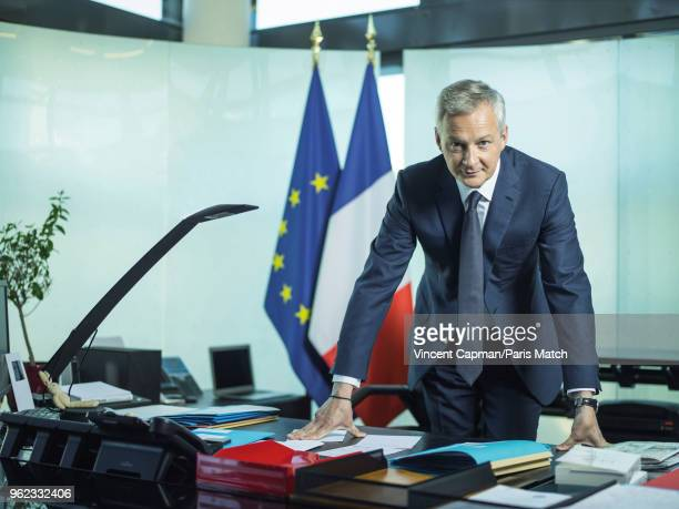 Minister of Economics and Finance Bruno Le Maire is photographed for Paris Match on May 11 2018 in Paris France
