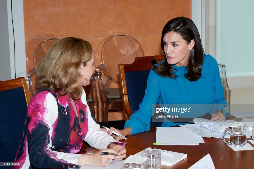 ESP: Queen Letizia of Spain Attends 'Microfinanzas BBVA' Foundation debate