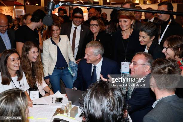 Minister of Economy and Finance Bruno Le Maire MarcAntoine Jamet and LVMH Students attend the Inauguration of the Cosmetic 360 International...