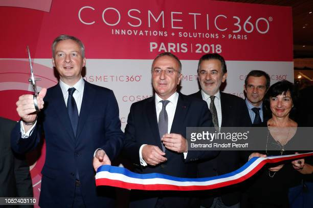 Minister of Economy and Finance Bruno Le Maire MarcAntoine Jamet and guests attend the Inauguration of the Cosmetic 360 International exhibition of...