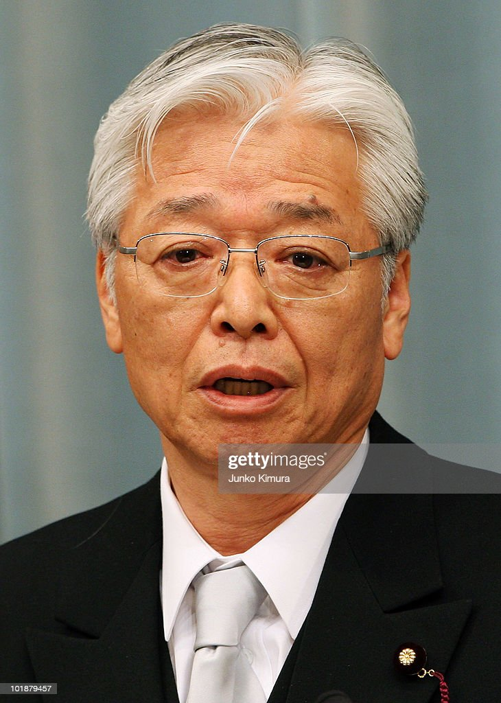 Minister of Economy, Trade and Industry Masayuki Naoshima speaks during a press conference at the Prime Minister's official residence on June 8, 2010 in Tokyo, Japan. Naoto Kan, elected by a general meeting of Democratic Party of Japan lawmakers, succeeds outgoing Yukio Hatoyama, who resigned less than nine months into the post.