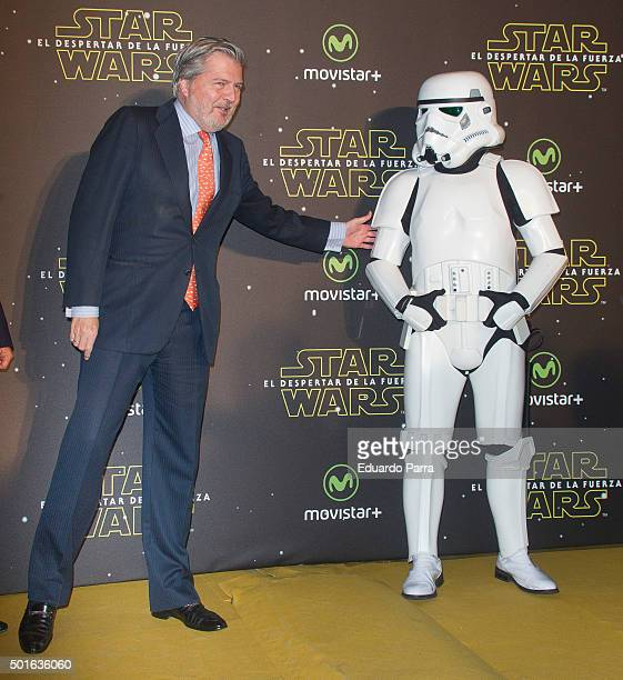 Minister of Education Inigo Mendez de Vigo attends 'Star Wars The Force Awakens' at Callao cinema on December 16 2015 in Madrid Spain