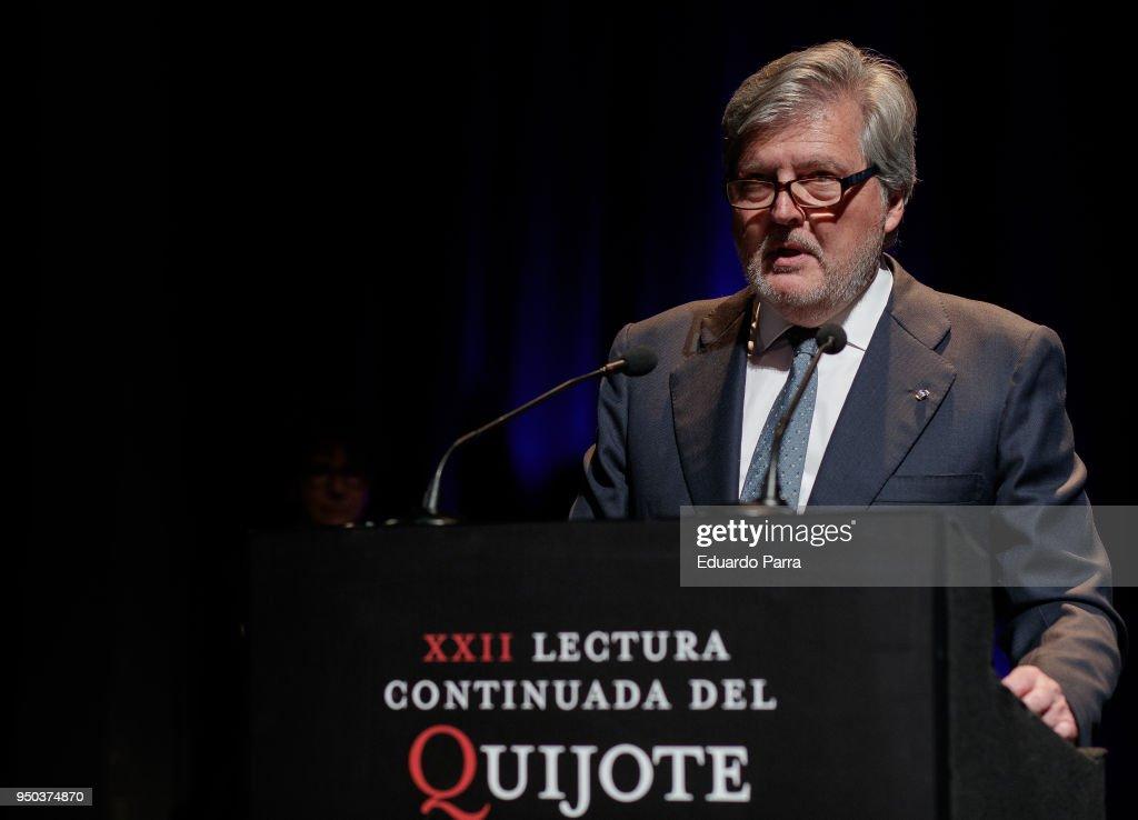 Sergio Ramirez Inaugurates 'El Quijote' Lecture in Madrid