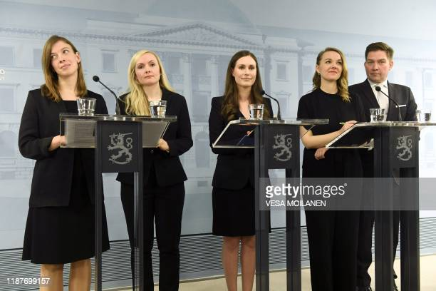 Minister of Education Li Andersson Minister of Interior Maria Ohisalo Prime Minister Sanna Marin Minister of Finance Katri Kulmuni and Minister for...