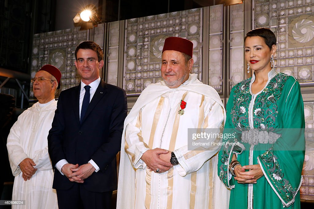 HRH The Princess Lalla Meryem Of Morocco Delivers The Insignia Of The Order Of The Throne At Institut Du Monde Arabe In Paris