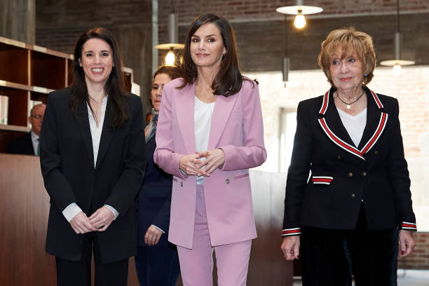 ESP: Queen Letizia Attends A Meeting With APRAMP Prostitution Women Association