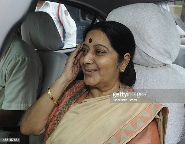 Minister of External Affairs Sushma Swaraj after reiterating in the Lok Sabha that she had made no request or recommendation to the British...