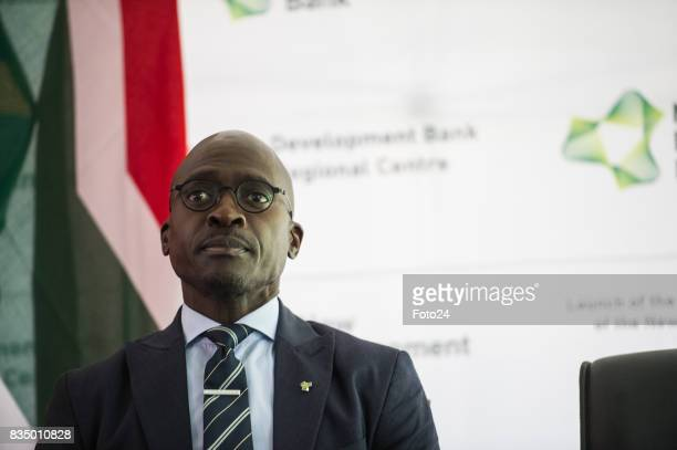 Minister of Finances Malusi Gigaba on August 17 2017 in Johannesburg South Africa The opening of the Africa Regional Centre for the New Development...