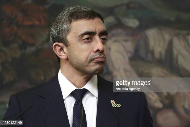 Minister of Foreign Affairs and International Cooperation of the United Arab Emirates, Sheikh Abdullah bin Zayed bin Sultan Al Nahyan and Russian...