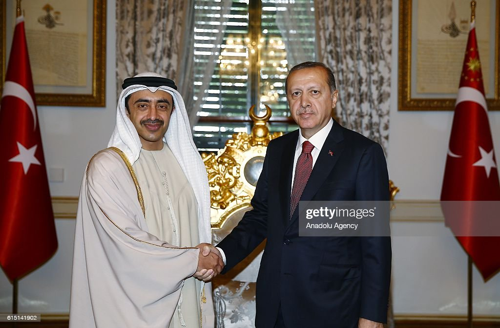 Foreign Minister of UAE Abdullah bin Zayed Al Nahyan in Istanbul : News Photo