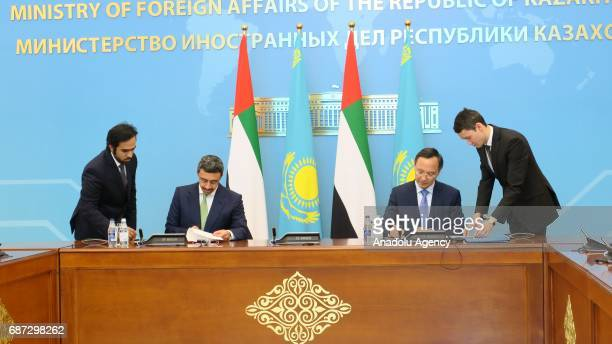 Minister of Foreign Affairs and International Cooperation of the United Arab Emirates Abdullah bin Zayed Al Nahyan and Foreign Minister for the...
