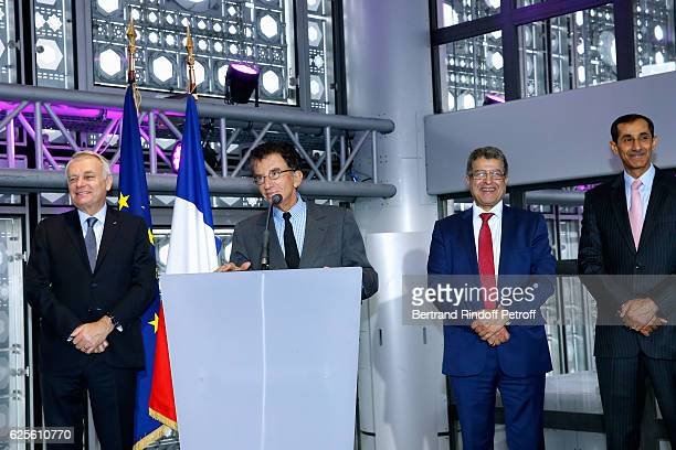 Minister of Foreign Affairs and International Development, Jean-Marc Ayrault, President of the 'Institut du Monde Arabe' Jack Lang, General Director...