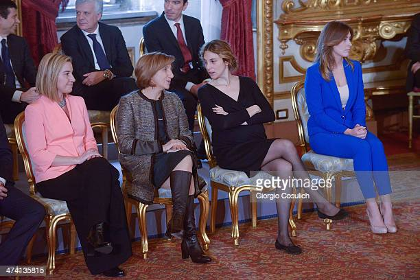 Minister of Foreign Affairs Federica Mogherini Minister of Regional Affairs Maria Carmela Lanzetta Minister of Public Administration Marianna Madia...