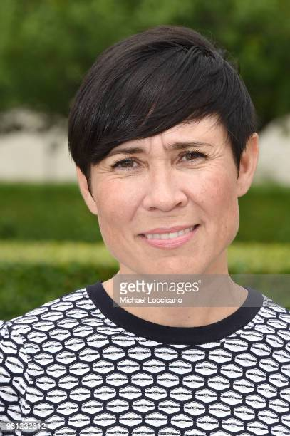 Minister of Foreign Affairs HE Ms Ine Eriksen Soreide of Norway stands in the Rose Garden during Norway's campaign launch for an elected seat in The...