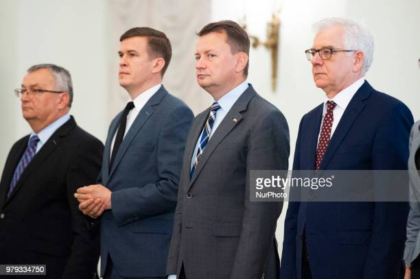 Minister of Foreign Affairs Jacek Czaputowicz Minister of National Defence Mariusz Blasczak Minister of Sport and Tourism Witold Banka and Minister...