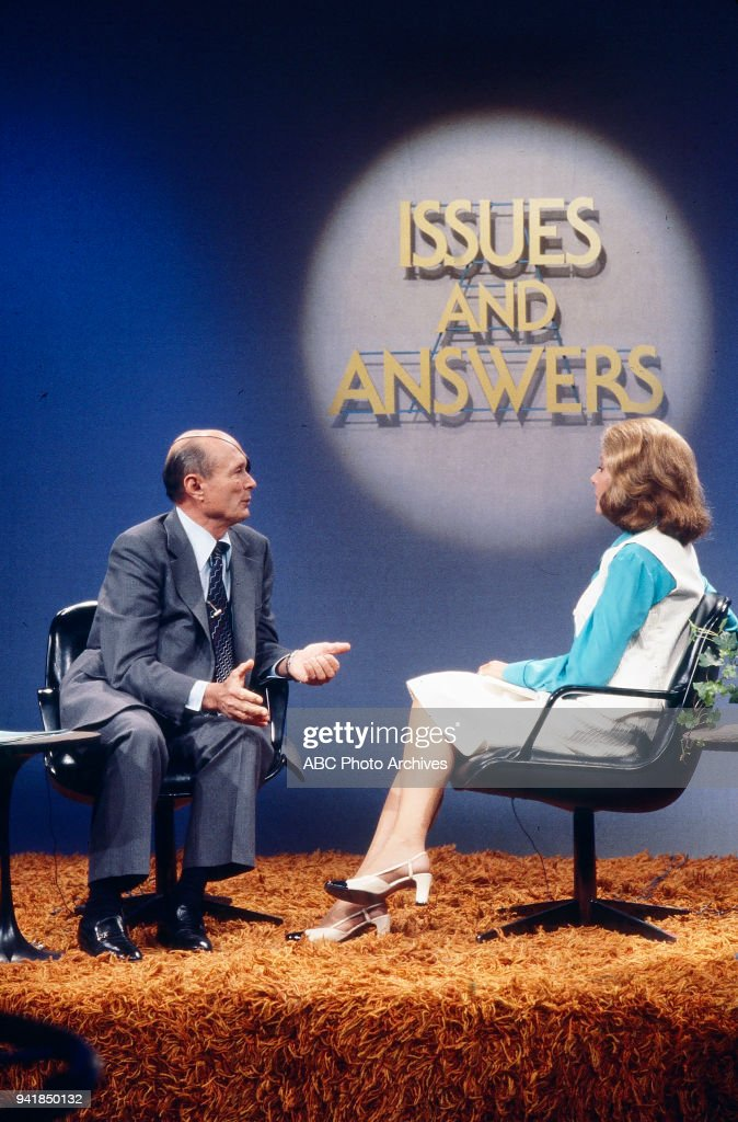 Minister of Foreign Affairs Moshe Dayan, Barbara Walters on ABC's