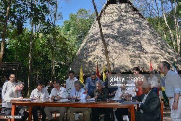 Minister of Foreign Affairs of Brazil Ernesto Henrique Fraga Araujo, President of Bolivia Evo Morales, President of Peru Martin Vizcarra, President...