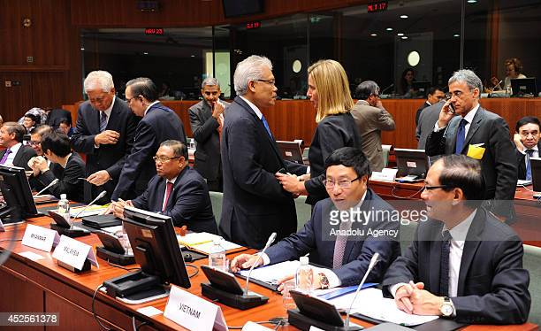 Minister of Foreign Affairs of Myanmar Wunna Maung Lwin Malaysia's deputy foreign minister Dato Hamzah Zainudin and Foreign Minister of Vietnam Pham...