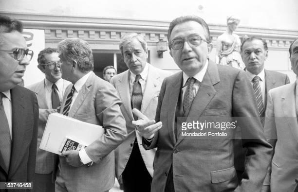 Minister of Foreign Affairs of the Italian Republic Giulio Andreotti Italian entrepreneur and publisher Giuseppe Ciarrapico Italian journalist Enzo...