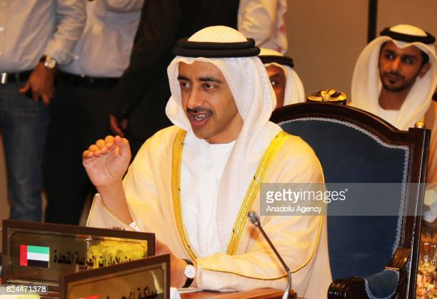 Minister of Foreign Affairs of the United Arab Emirates Abdullah bin Zayed Al Nahyan Foreign Minister of Bahrain Khalid bin Ahmed Al Khalifa Saudi...