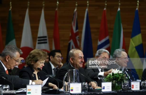 Minister of Foreign Affairs of Turkey Mevlut Cavusoglu attends Vancouver Foreign Ministers Meeting on Security and Stability on Korean Peninsula in...